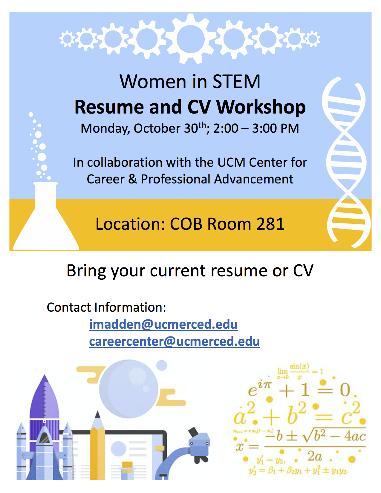 W-STEM resume and CV workshop