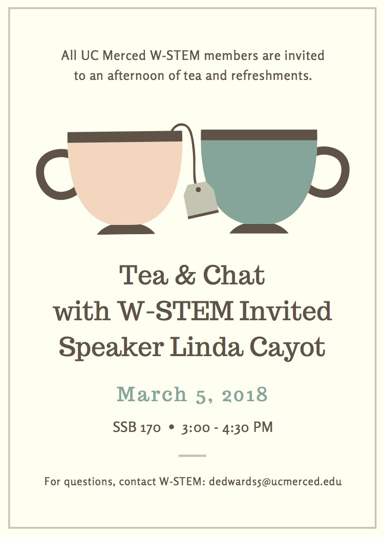 Annual Speaker event March 5th: tea and chat